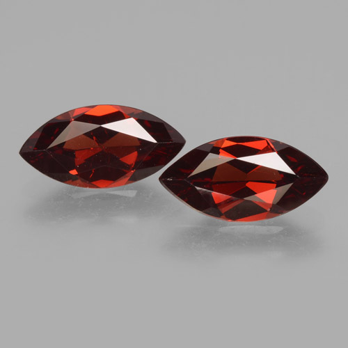 Red Pyrope Garnet Gem - 1.8ct Marquise Facet (ID: 463487)