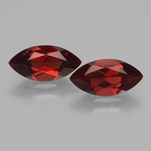 2.2ct Marquise Facet Deep Red Pyrope Garnet Gem (ID: 463488)