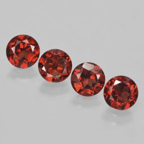 Red Pyrope Garnet Gem - 1ct Round Facet (ID: 463826)