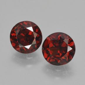 Medium Red Pyrope Garnet Gem - 1ct Round Facet (ID: 463944)
