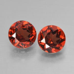 Red Pyrope Garnet Gem - 0.9ct Round Facet (ID: 463992)
