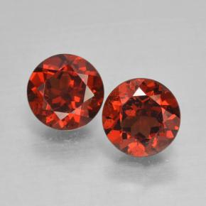 Medium Red Pyrope Garnet Gem - 1ct Round Facet (ID: 463993)