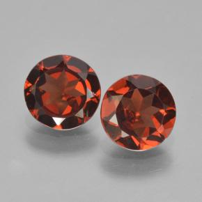 Currant Red Pyrope Garnet Gem - 0.8ct Round Facet (ID: 463998)