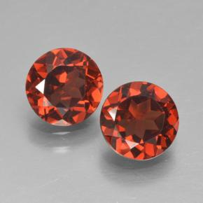 Currant Red Pyrope Garnet Gem - 0.9ct Round Facet (ID: 464000)