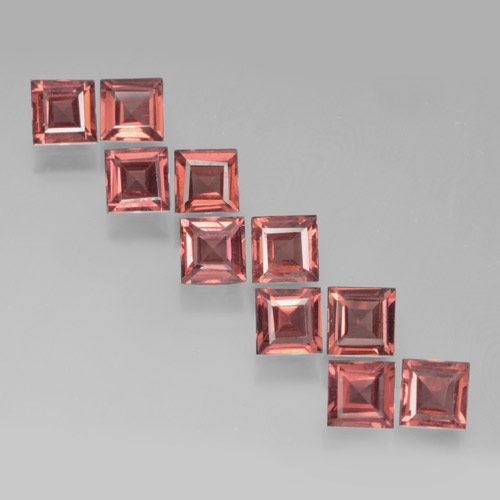 Red Pyrope Garnet Gem - 0.4ct Square Step-Cut (ID: 464180)