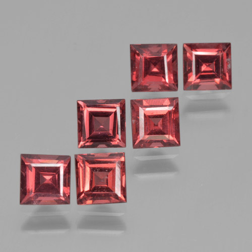 Red Pyrope Garnet Gem - 0.5ct Square Step-Cut (ID: 464202)