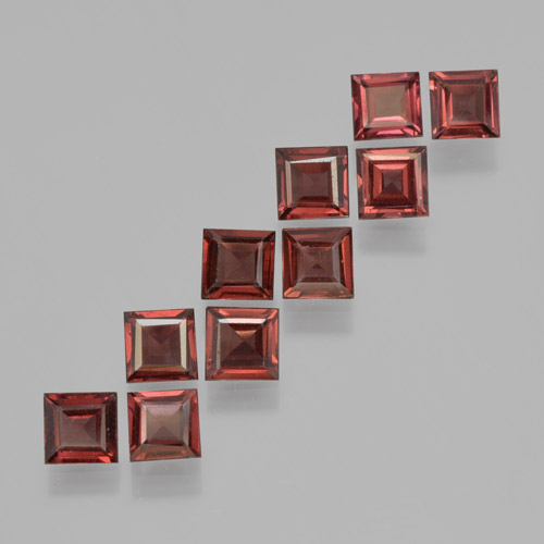 Red Pyrope Garnet Gem - 0.4ct Square Step-Cut (ID: 464217)