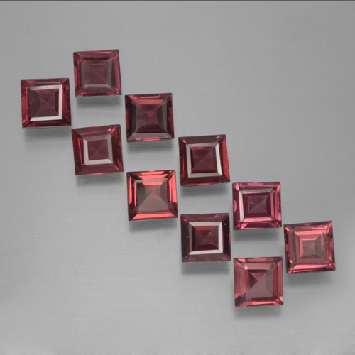 Red Pyrope Garnet Gem - 0.4ct Square Step-Cut (ID: 464218)