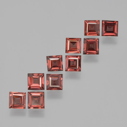Red Pyrope Garnet Gem - 0.5ct Square Step-Cut (ID: 464220)