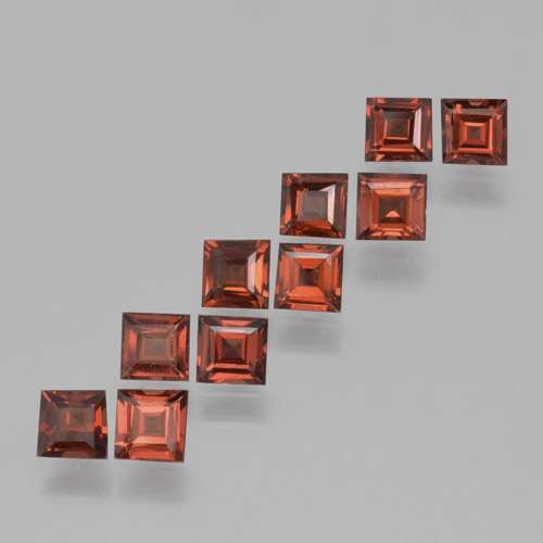 Red Pyrope Garnet Gem - 0.3ct Square Step-Cut (ID: 464223)