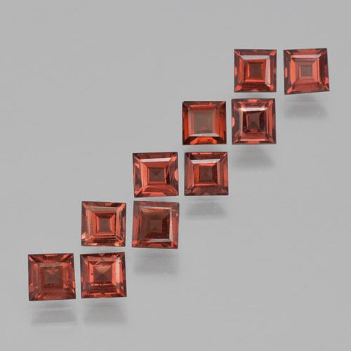 Red Pyrope Garnet Gem - 0.4ct Square Step-Cut (ID: 464226)