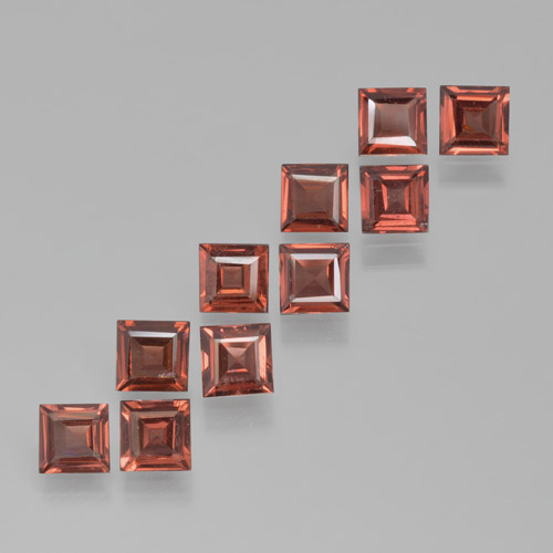 Red Pyrope Garnet Gem - 0.4ct Square Step-Cut (ID: 464228)