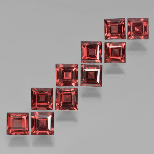 Red Pyrope Garnet Gem - 0.4ct Square Step-Cut (ID: 464245)