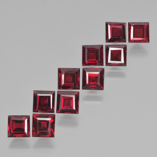thumb image of 0.5ct Square Step-Cut Red Pyrope Garnet (ID: 464281)