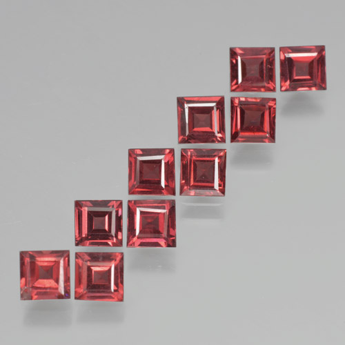Red Pyrope Garnet Gem - 0.4ct Square Step-Cut (ID: 464286)