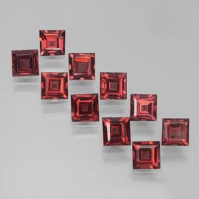 Red Pyrope Garnet Gem - 0.5ct Square Step-Cut (ID: 464309)