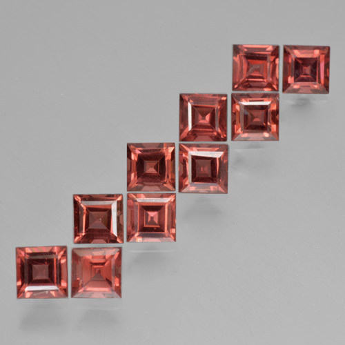 Red Pyrope Garnet Gem - 0.5ct Square Step-Cut (ID: 464351)