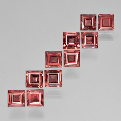 Red Pyrope Garnet Gem - 0.4ct Square Step-Cut (ID: 464354)