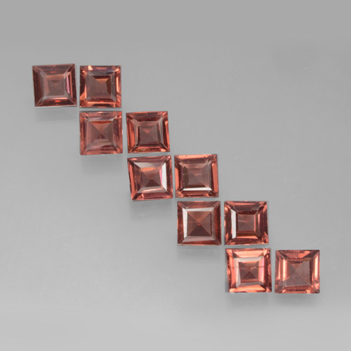 Red Pyrope Garnet Gem - 0.3ct Square Step-Cut (ID: 464365)
