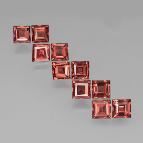 Red Pyrope Garnet Gem - 0.4ct Square Step-Cut (ID: 464366)