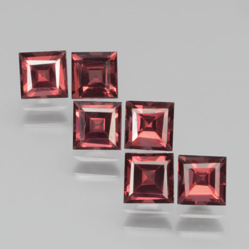 Red Pyrope Garnet Gem - 0.5ct Square Step-Cut (ID: 464379)