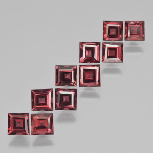 Red Pyrope Garnet Gem - 0.5ct Square Step-Cut (ID: 464394)