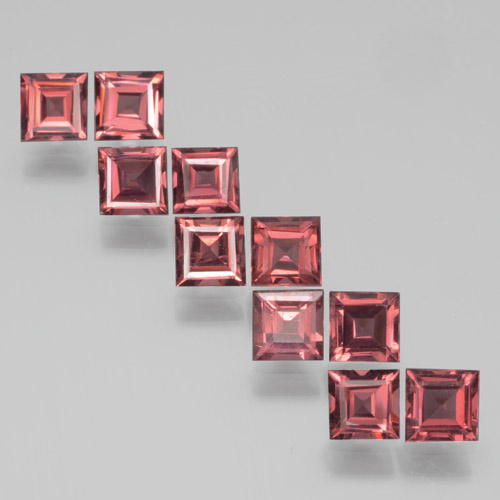 Red Pyrope Garnet Gem - 0.4ct Square Step-Cut (ID: 464400)