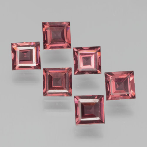 Red Pyrope Garnet Gem - 0.4ct Square Step-Cut (ID: 464436)