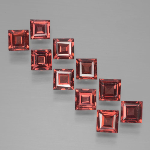 Red Pyrope Garnet Gem - 0.4ct Square Step-Cut (ID: 464457)