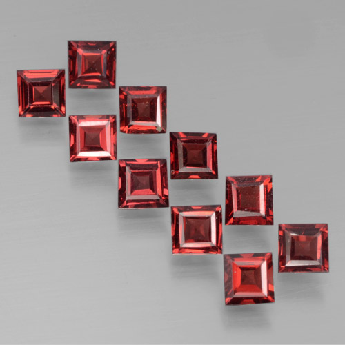 Dark Red Pyrope Garnet Gem - 0.4ct Square Step-Cut (ID: 464464)