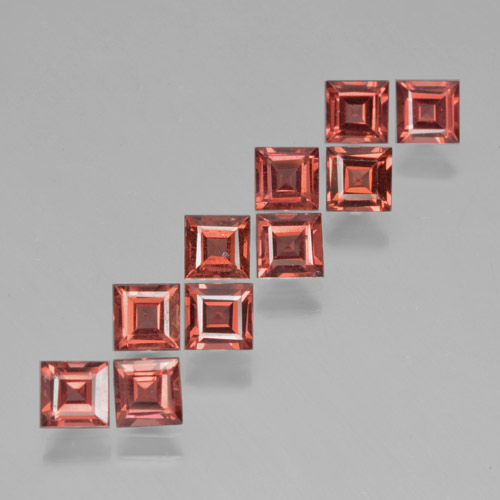 Scarlet Red Pyrope Garnet Gem - 0.4ct Square Step-Cut (ID: 464471)