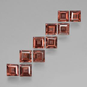 Brick Red Pyrope Garnet Gem - 0.4ct Square Step-Cut (ID: 464473)