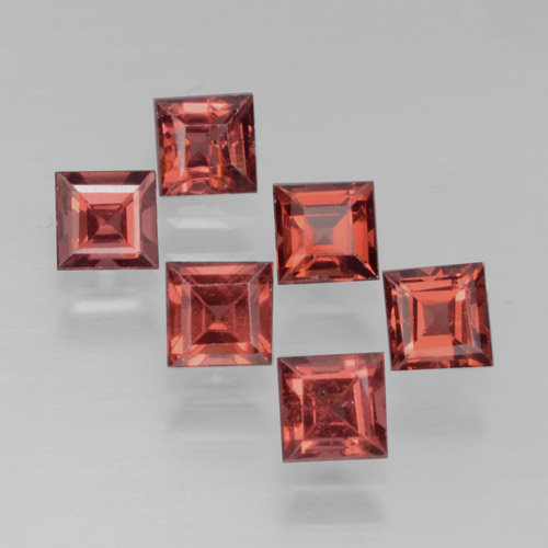 Red Pyrope Garnet Gem - 0.4ct Square Step-Cut (ID: 464535)