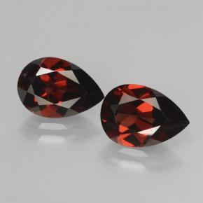 Deep Blood Red Pyrope Garnet Gem - 2.1ct Pear Facet (ID: 464949)