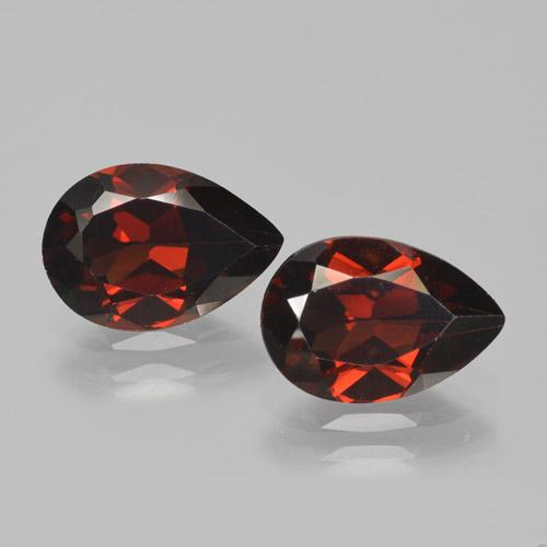 Red Pyrope Garnet Gem - 2.2ct Pear Facet (ID: 465074)