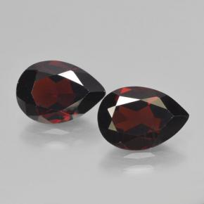 Red Pyrope Garnet Gem - 2.2ct Pear Facet (ID: 465085)