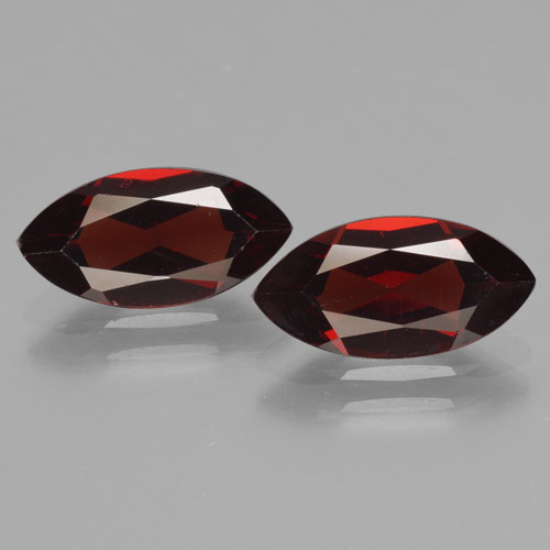 Deep Red Pyrope Garnet Gem - 2.1ct Marquise Facet (ID: 465763)