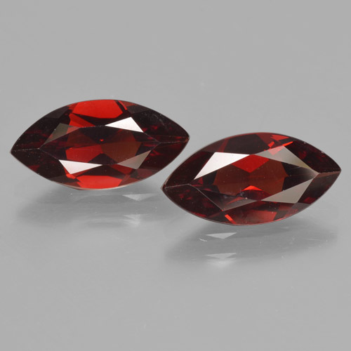 1.9ct Marquise Facet Dark Red Pyrope Garnet Gem (ID: 465765)
