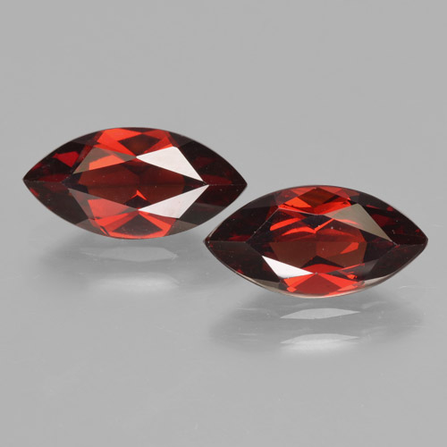Red Pyrope Garnet Gem - 2ct Marquise Facet (ID: 465766)