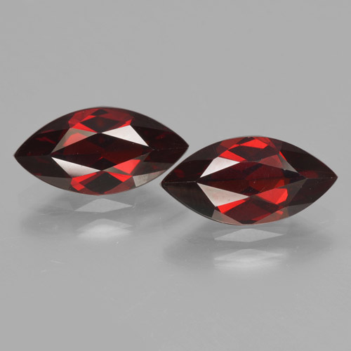 2ct Marquise Facet Dark Red Pyrope Garnet Gem (ID: 465767)