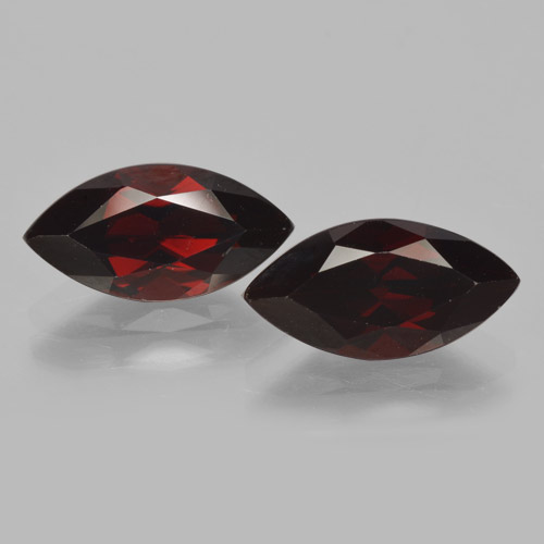 2.3ct Marquise Facet Blackish Red Pyrope Garnet Gem (ID: 465769)