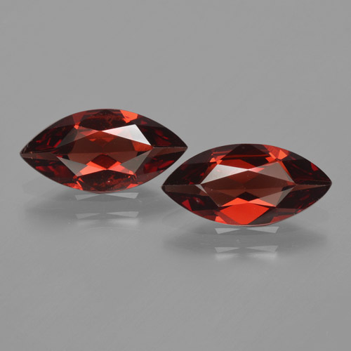 Red Pyrope Garnet Gem - 1.5ct Marquise Facet (ID: 465842)