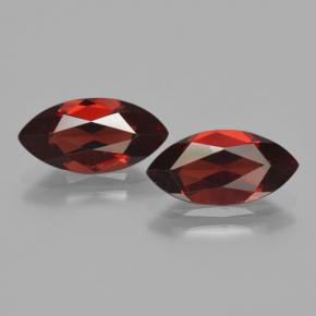 Red Pyrope Garnet Gem - 2ct Marquise Facet (ID: 465847)