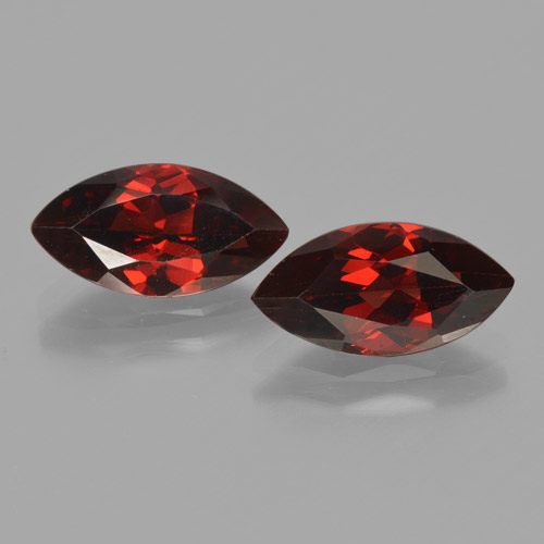 2.2ct Marquise Facet Deep Red Pyrope Garnet Gem (ID: 465849)