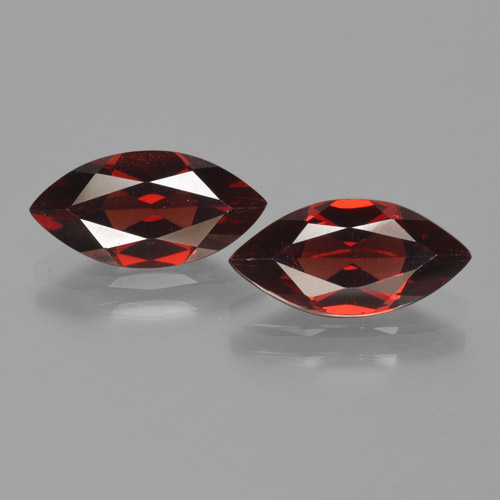 1.9ct Marquise Facet Dark Red Pyrope Garnet Gem (ID: 465850)