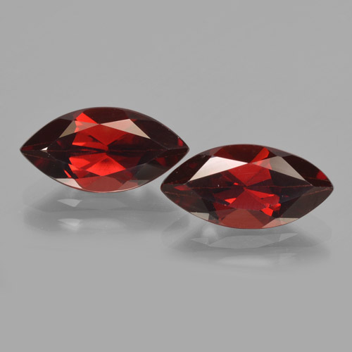 Dark Red Pyrope Garnet Gem - 2.3ct Marquise Facet (ID: 465852)
