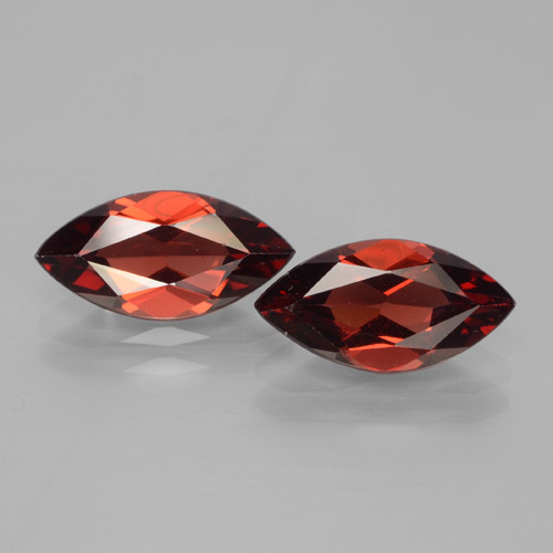 Red Pyrope Garnet Gem - 2ct Marquise Facet (ID: 465915)
