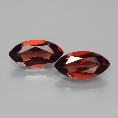 2ct Marquise Facet Dark Red Pyrope Garnet Gem (ID: 465918)