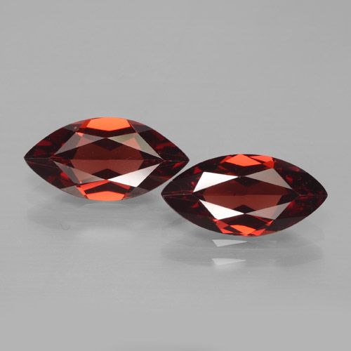1.8ct Marquise Facet Deep Red Pyrope Garnet Gem (ID: 465921)