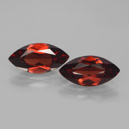 2ct Marquise Facet Deep Red Pyrope Garnet Gem (ID: 465922)